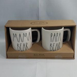 Rae Dunn Mama and Papa Bear Coffee/Tea Mug